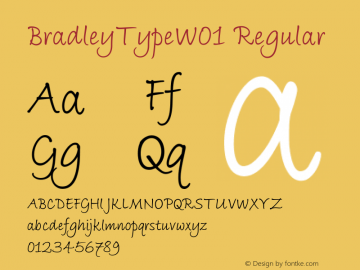 BradleyTypeW01 Regular Version 1.02 Font Sample