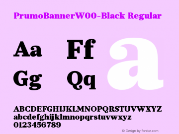 PrumoBannerW00-Black Regular Version 1.10 Font Sample
