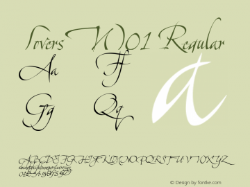 LoversW01 Regular Version 1.1 Font Sample