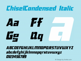 ChiselCondensed Italic The IMSI MasterFonts Collection, tm 1995 IMSI Font Sample