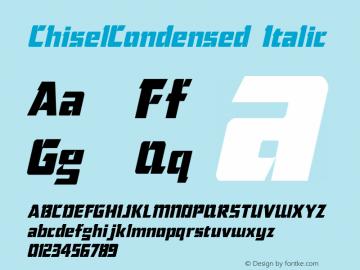 ChiselCondensed Italic The IMSI MasterFonts Collection, tm 1995 IMSI Font Sample