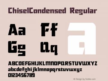 ChiselCondensed Regular Macromedia Fontographer 4.1.5 5/17/98 Font Sample