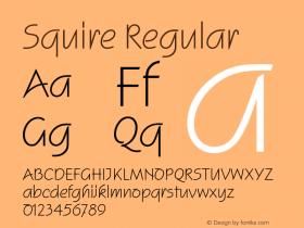 Squire Regular Version 1.0 Font Sample