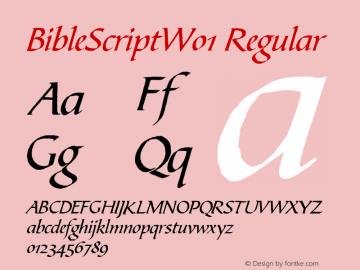BibleScriptW01 Regular Version 1.00 Font Sample