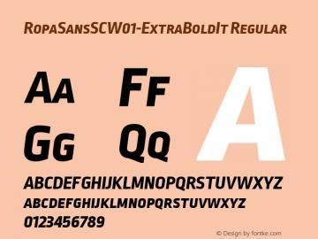 RopaSansSCW01-ExtraBoldIt Regular Version 1.10图片样张