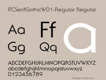 ITCSerifGothicW01-Regular Regular Version 1.00图片样张