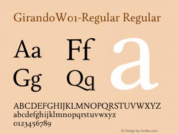 GirandoW01-Regular Regular Version 1.00图片样张