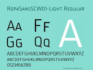 RopaSansSCW01-Light Regular Version 1.10图片样张