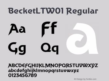 BecketLTW01 Regular Version 2.02图片样张