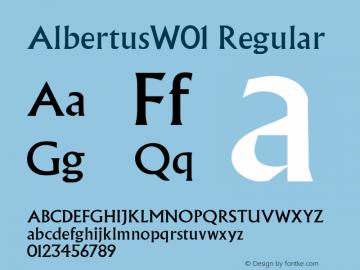 AlbertusW01 Regular Version 1.01图片样张