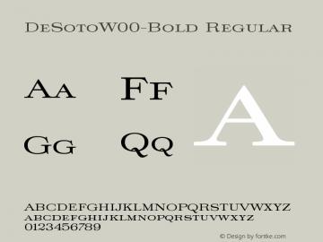 DeSotoW00-Bold Regular Version 1.00图片样张