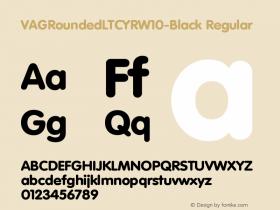 VAGRoundedLTCYRW10-Black Regular Version 1.00 Font Sample