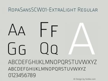 RopaSansSCW01-ExtraLight Regular Version 1.10图片样张