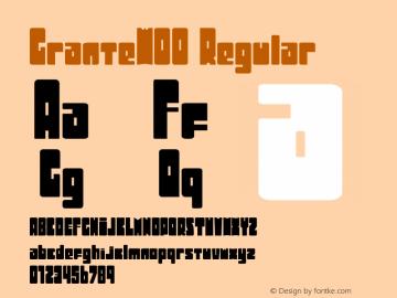 GranteW00 Regular Version 1.1 Font Sample