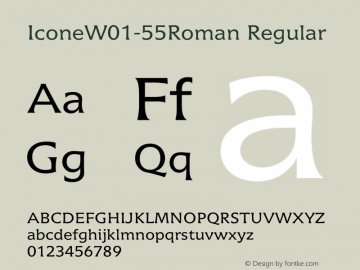 IconeW01-55Roman Regular Version 1.02图片样张
