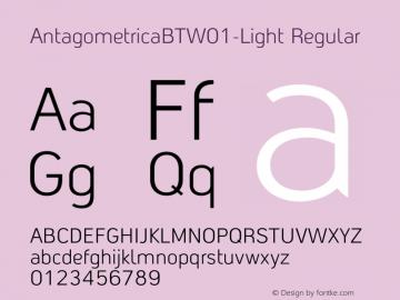 AntagometricaBTW01-Light Regular Version 1.00图片样张