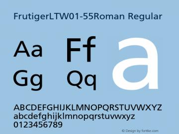 FrutigerLTW01-55Roman Regular Version 1.00 Font Sample