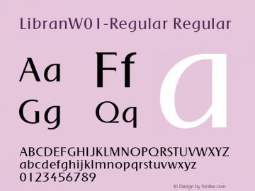 LibranW01-Regular Regular Version 1.00 Font Sample