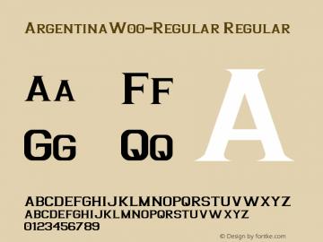 ArgentinaW00-Regular Regular Version 1.00图片样张