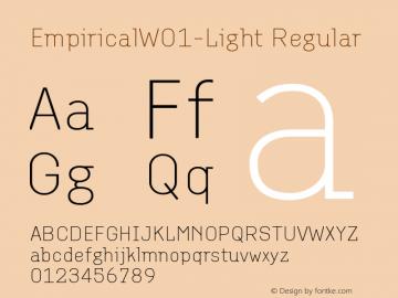 EmpiricalW01-Light Regular Version 1.00 Font Sample