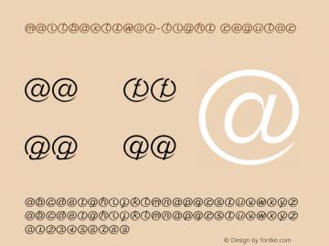 MailboxLTW01-Light Regular Version 1.01 Font Sample