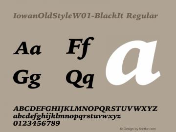 IowanOldStyleW01-BlackIt Regular Version 1.00 Font Sample
