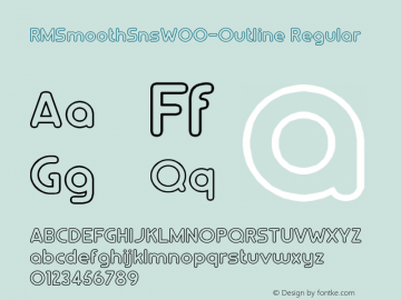 RMSmoothSnsW00-Outline Regular Version 1.00 Font Sample