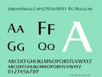 LibranSmallCapsOSFigsW01-Rg Regular Version 1.00 Font Sample