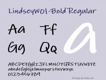 LindseyW01-Bold Regular Version 1.1图片样张