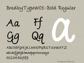BradleyTypeW01-Bold Regular Version 1.02 Font Sample