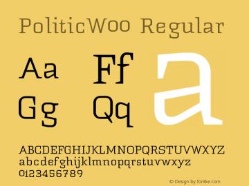 PoliticW00 Regular Version 1.1 Font Sample