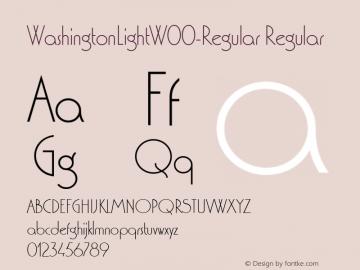 WashingtonLightW00-Regular Regular Version 1.30 Font Sample