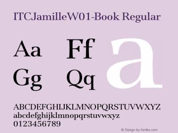 ITCJamilleW01-Book Regular Version 1.00 Font Sample