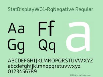 StatDisplayW01-RgNegative Regular Version 6.10图片样张