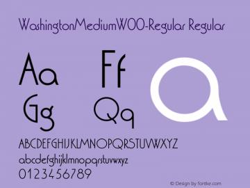 WashingtonMediumW00-Regular Regular Version 1.30 Font Sample