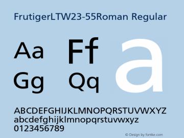 FrutigerLTW23-55Roman Regular Version 1.00 Font Sample