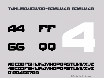 TakuSolidW00-Regular Regular Version 1.00 Font Sample