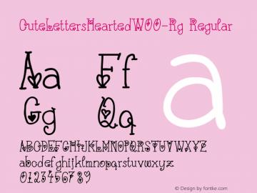 CuteLettersHeartedW00-Rg Regular Version 1.10图片样张