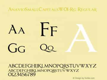AnavioSmallCapitalsW01-Rg Regular Version 1.00图片样张