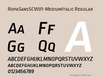 RopaSansSCW01-MediumItalic Regular Version 1.10图片样张