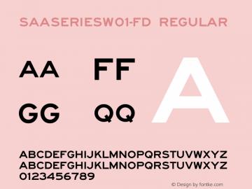 SAASeriesW01-FD Regular Version 1.00图片样张
