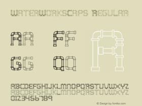 WaterWorksCaps Regular Version 4.10 Font Sample