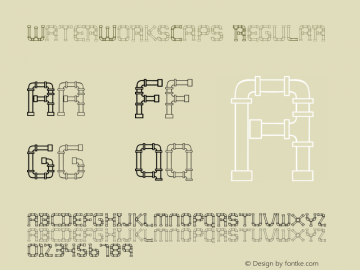 WaterWorksCaps Regular Version 4.10 Font Sample