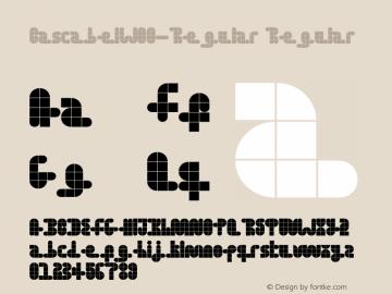 CascabelW00-Regular Regular Version 1.00 Font Sample
