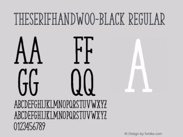 TheSerifHandW00-Black Regular Version 2.00 Font Sample