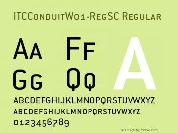 ITCConduitW01-RegSC Regular Version 1.00图片样张