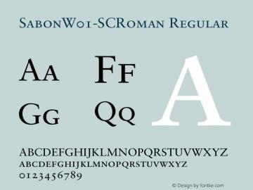 SabonW01-SCRoman Regular Version 1.00图片样张