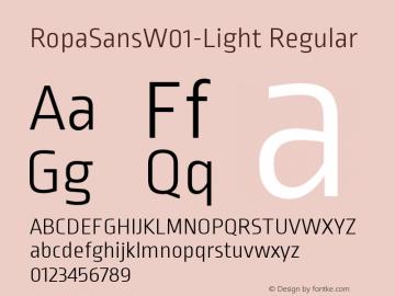 RopaSansW01-Light Regular Version 1.10图片样张