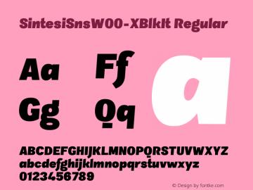 SintesiSnsW00-XBlkIt Regular Version 1.00 Font Sample