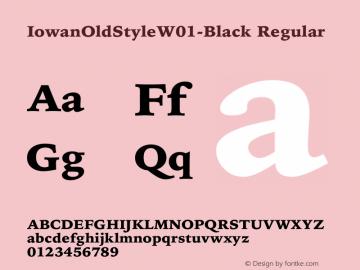 IowanOldStyleW01-Black Regular Version 1.00 Font Sample